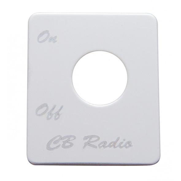 Peterbilt Stainless Steel CB Radio Switch Plate
