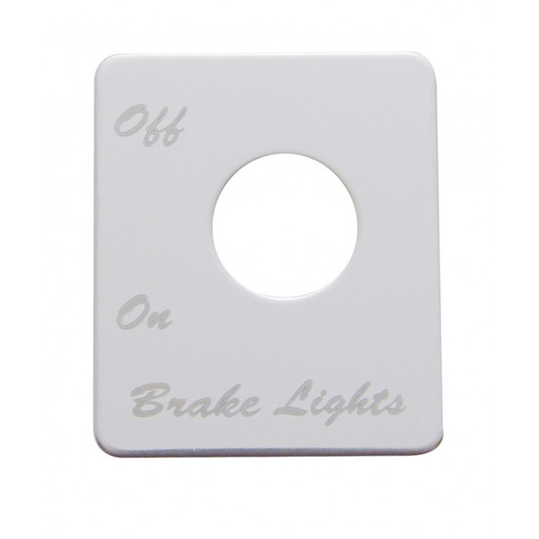 Peterbilt Stainless Steel Brake Light Switch Plate