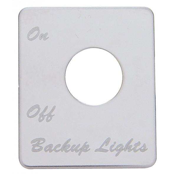 Peterbilt Stainless Steel Backup Light Switch Plate