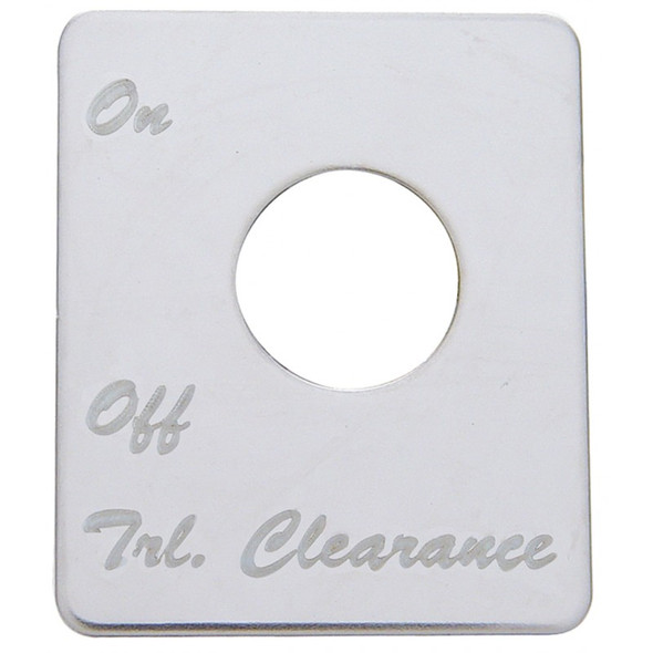 Peterbilt Stainless Steel Trailer Clearance Switch Plate