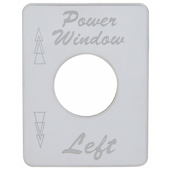 Peterbilt Stainless Steel Left Power Window Switch Plate