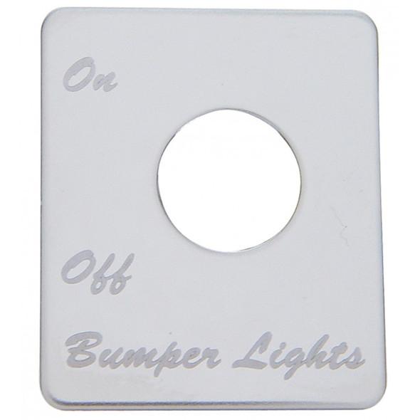 Peterbilt Stainless Steel Bumper Light Switch Plate