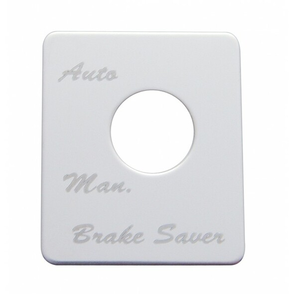 Peterbilt Stainless Steel Brake Saver Switch Plate