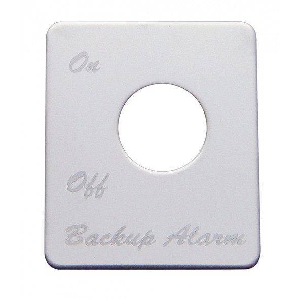 Peterbilt Stainless Steel Backup Alarm Switch Plate