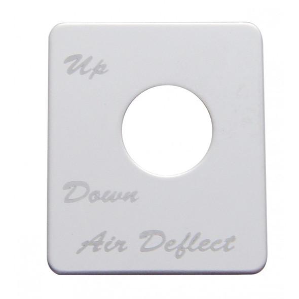 Peterbilt Stainless Steel Air Deflector Switch Plate