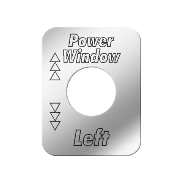 Kenworth Stainless Steel Left Power Window Switch Plate