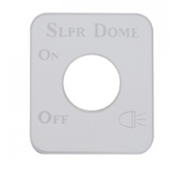 Kenworth Stainless Steel Sleeper Dome Switch Plate
