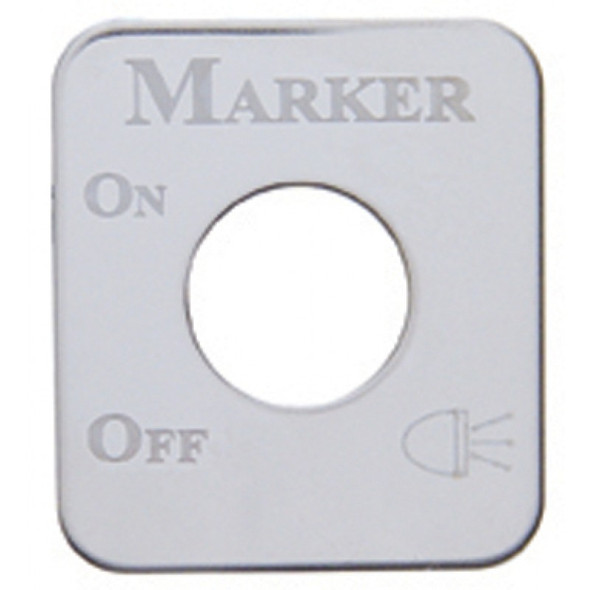 Kenworth Stainless Steel Marker Light Switch Plate