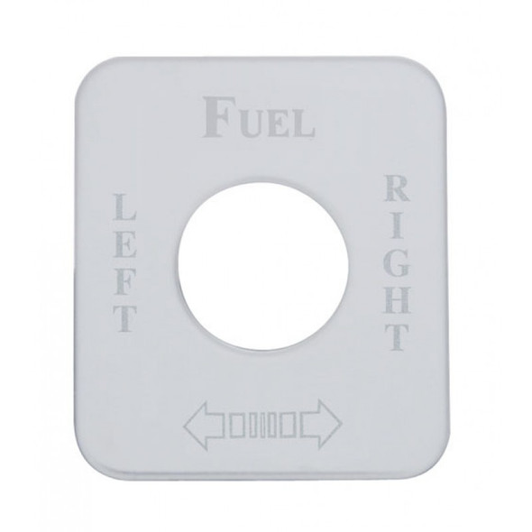 Kenworth Stainless Steel Fuel Level Left/Right Switch Plate