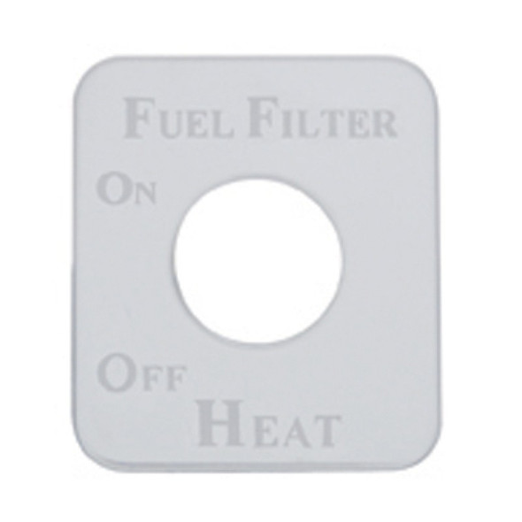 Kenworth Stainless Steel Fuel Filter Heat Switch Plate