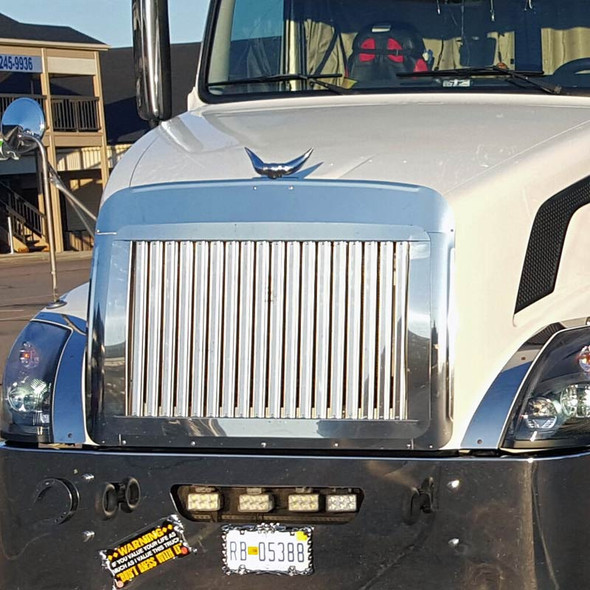 Volvo VNL 670 730 780 Grill with Vertical Bars 2004 & Newer