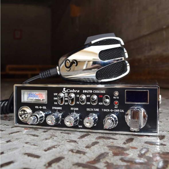 Cobra 29 LTD Special Edition Chrome Finish CB Radio Angle View