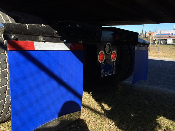 Blue Poly Mud Flaps On Truck