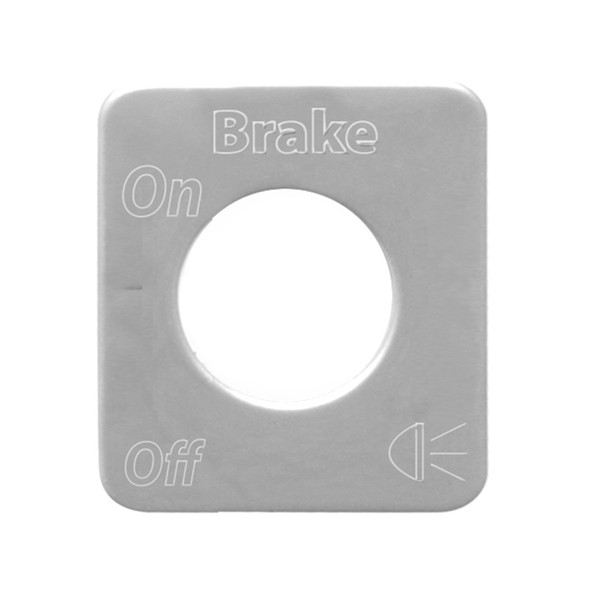 Kenworth Stainless Steel Beacon Light Switch Plate