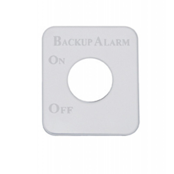 Kenworth Stainless Steel Backup Alarm Switch Plate