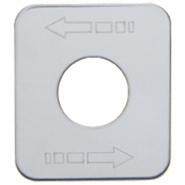 Kenworth Stainless Steel Arrow (Left/Right) Switch Plate