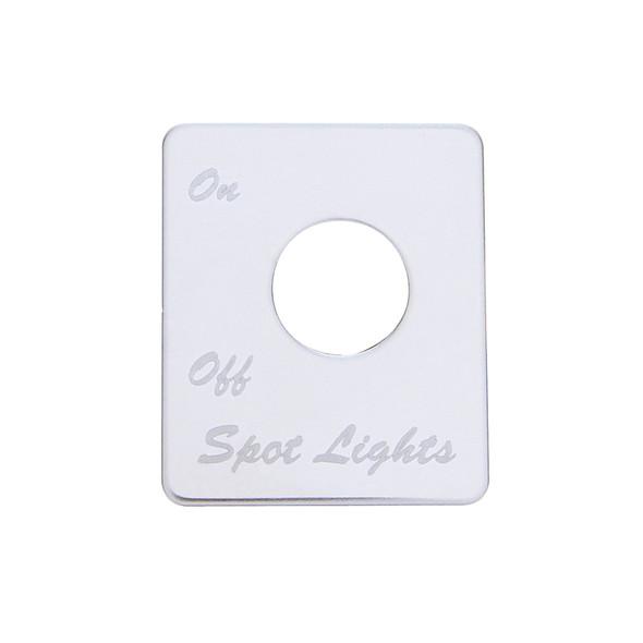 Peterbilt Stainless Steel Spot Light Switch Plate