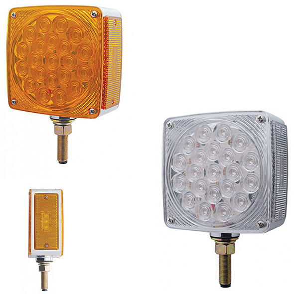 45 LED Square Double Face Turn Signal Light With Side LED - Both Styles