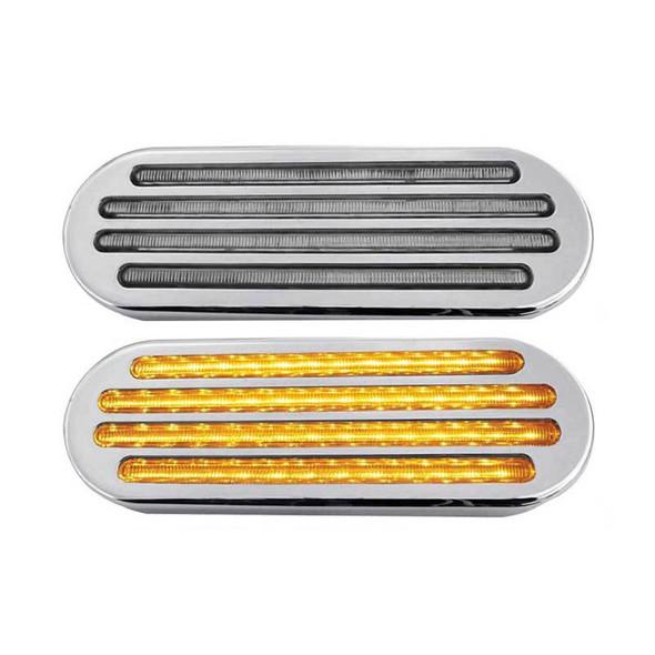 """6"""" Oval Flatline SST And Marker LED Light 52 Diodes"""
