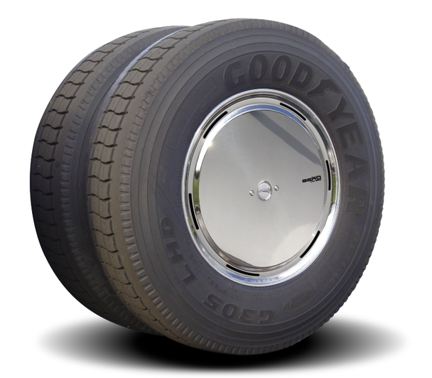 Stainless Steel Aero Axle Covers for Rear Drive Wheels
