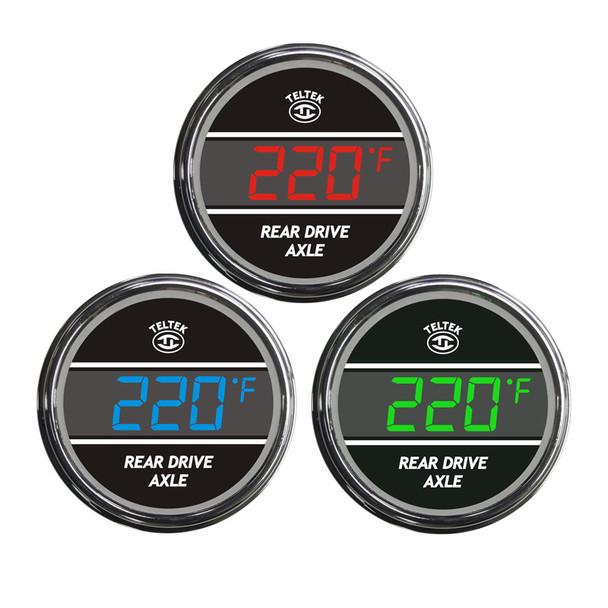 Truck Rear Axle Temperature TelTek Gauge Color Display Options