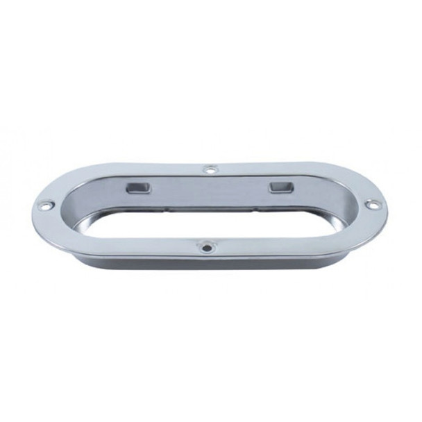 """Stainless 6"""" Oval Mounting Flange"""