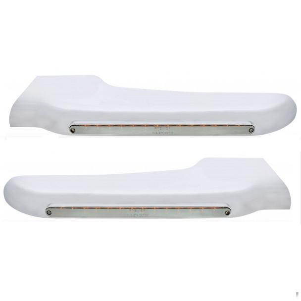 Peterbilt 389 LED Front Fender Bracket Cover - Chrome