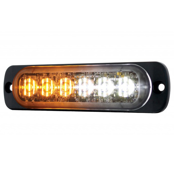 6 High Power LED Dual Color Warning Light
