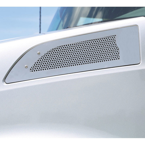 """Kenworth T680 Punched Side Intake Screen With Small 1/4"""" Circles"""