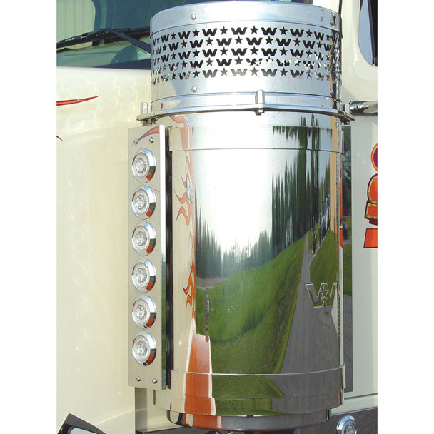 """Western Star 13"""" Donaldson Front Breather Light Bar With 6 Fusion LED Lights"""