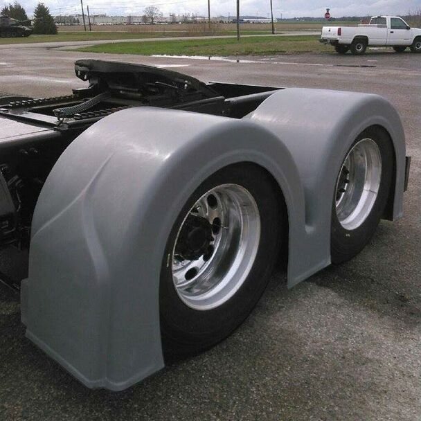 Double Hump Rear Fender Set With Light Box Style 2