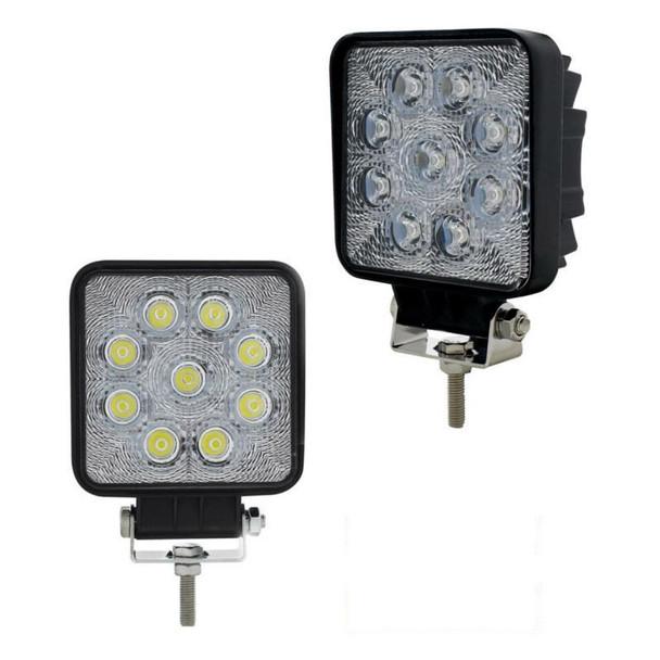 High Power 9 LED 25 Watt Square Work Light