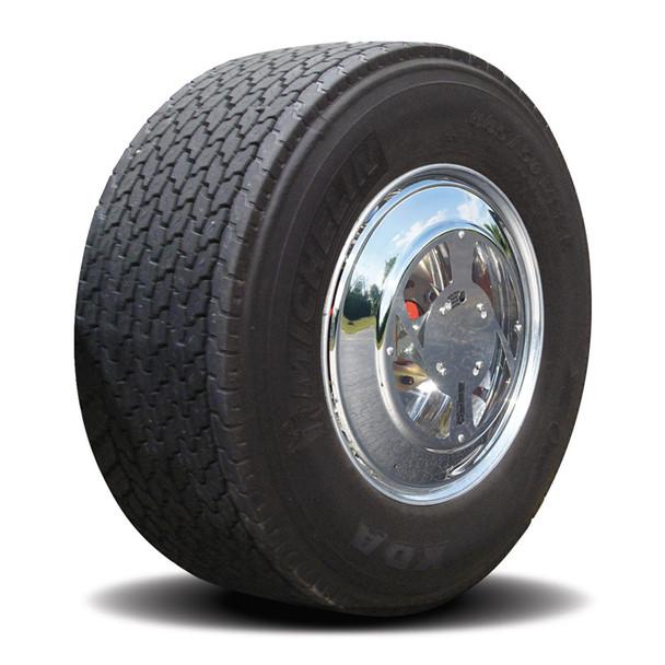 Twist & Lock Steel Aero Cover Set For Wide Base Tractor Wheels w/ Mirror Finish
