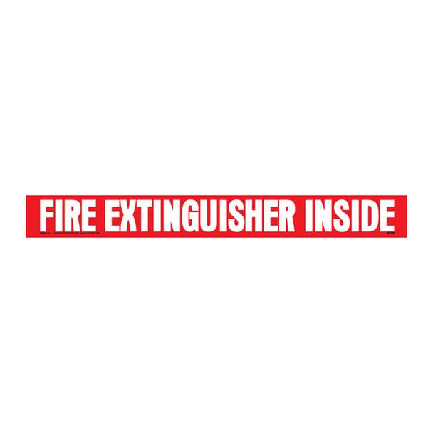 Safety Fire Extinguisher Inside Decal Transport Safety Sign Sticker