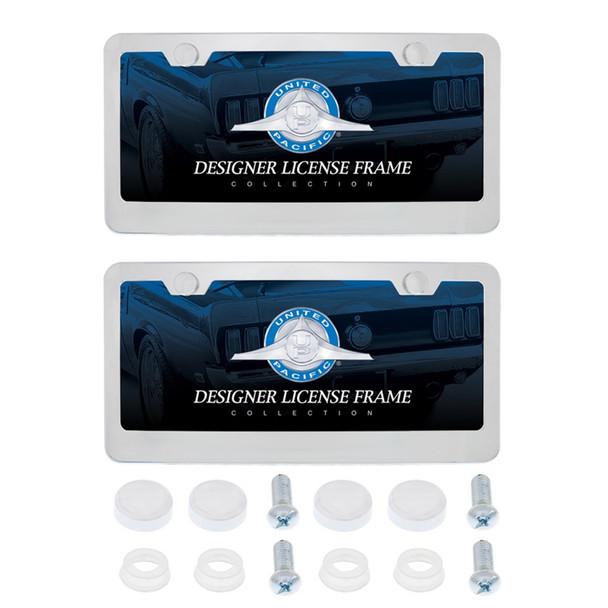Dual Chrome License Plate Frame Kit