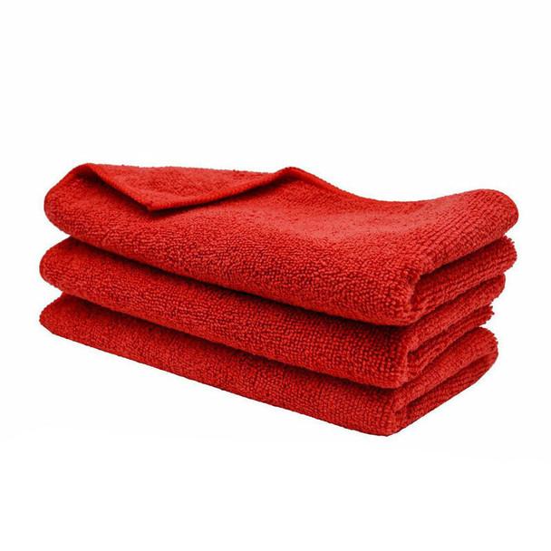 Premium Red Microfiber Towels