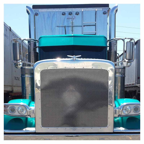 Peterbilt 388 389 Stainless Steel Punch Grill