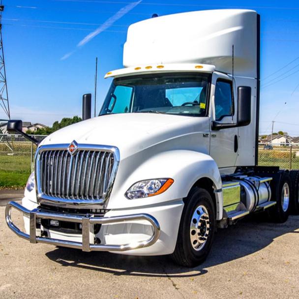 International LT Herd Grill Guard 100 Series - On Truck
