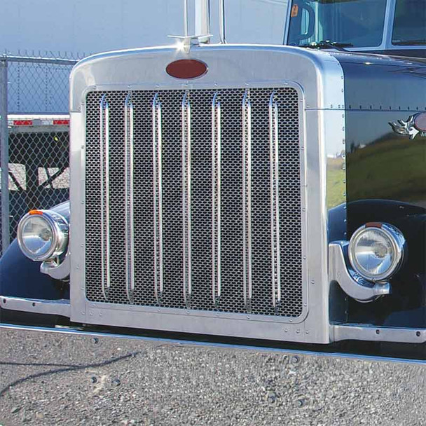 Peterbilt 389 Extended Hood Grill with Oval Punch Out
