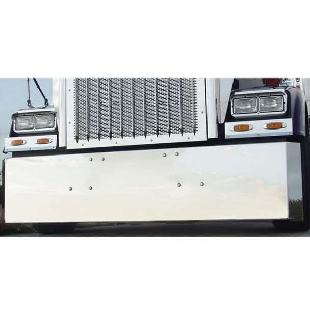 Freightliner Classic 2007 & Older Stainless Steel Bumper By Roadworks Miltered End
