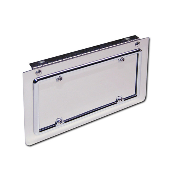 Hinged Stainless Steel Single License Plate Holder