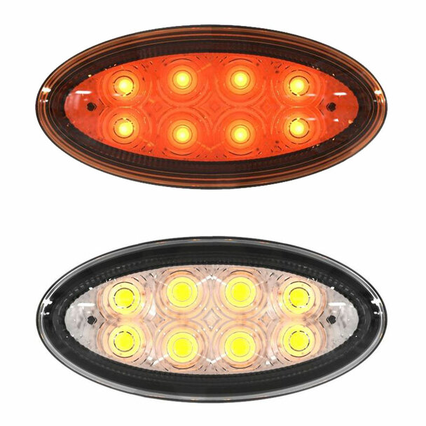 Peterbilt 8 LED OEM Style Side Marker Light P54-6008-111 - Default