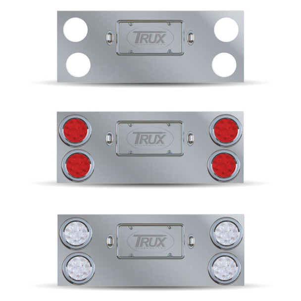 Rear Center Panel With 4 Light Holes All Options