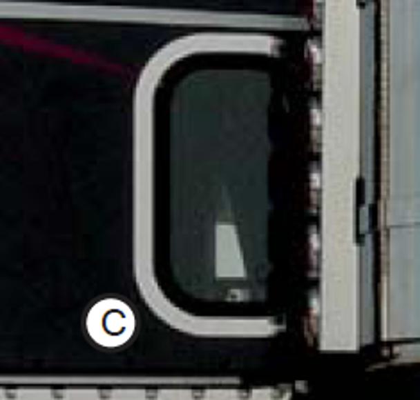 Freightliner Classic/ FLD  View Window Trim By RoadWorks