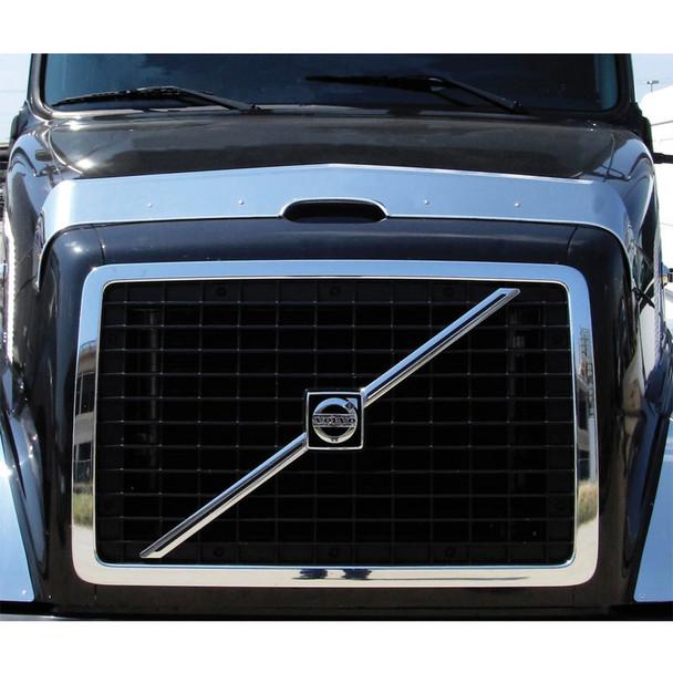 Volvo VNL 630 670 730 780 Hood Shield Bug Deflector Front View