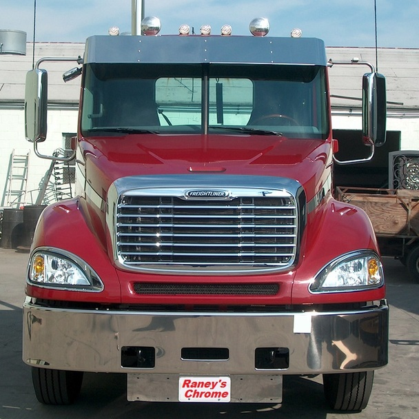 Freightliner Columbia Visor Stainless Steel for Day Cab