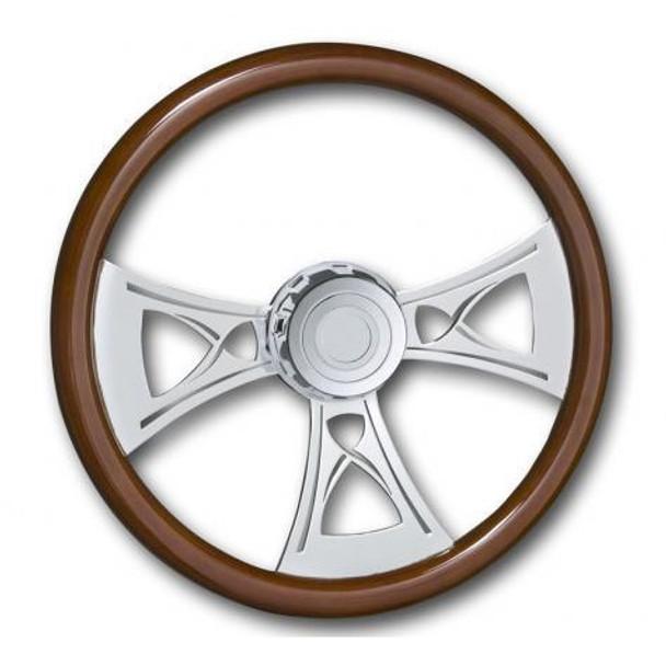 "Western Star Steering Wheel Chrome 18"" Cross With Hub Included"