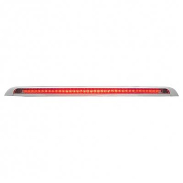 Red LED Auxiliary Strip Light On