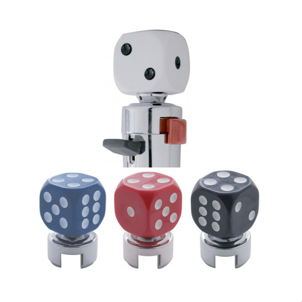 Dice 13/15/18 Gearshift Knob White, Blue, Red, Black