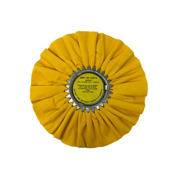 Yellow 20ply Medium Heavy Cutting Airway Buffing Wheel Yellow